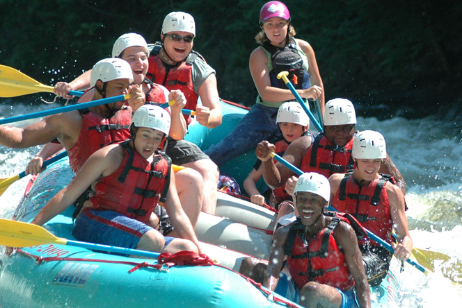 Whitewater Rafting Brandon School